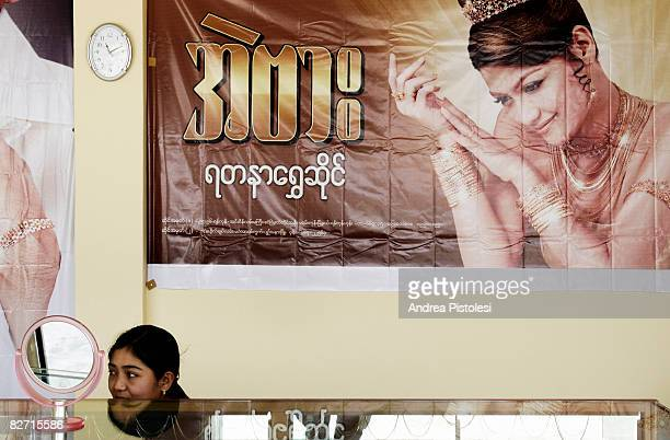 young girl in department store - naypyidaw stock pictures, royalty-free photos & images