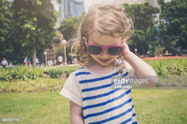 Young Girl in Hyde Park, Sydney