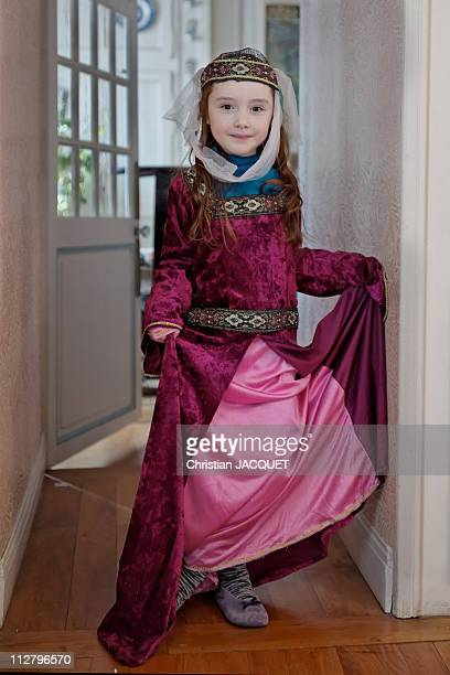 Young girl in medieval princess
