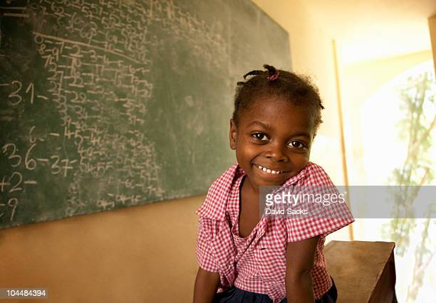 Young girl in school