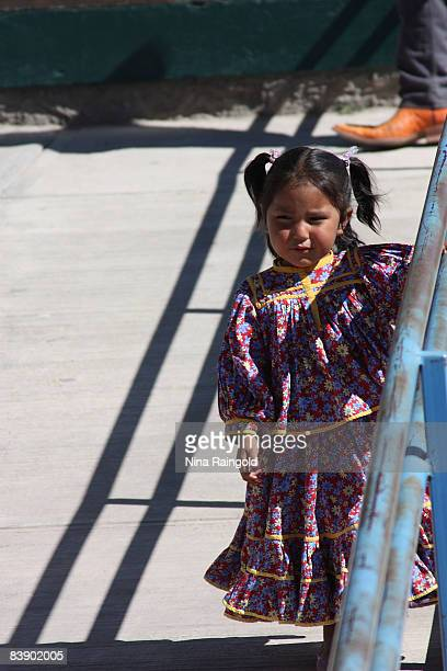 Young girl in the farming and logging town of Creel on November 25, 2008 in Mexico. Creel is one of the main tourist attractions along the famous...