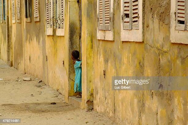 CONTENT] Young girl in the old colonial town of StLouis