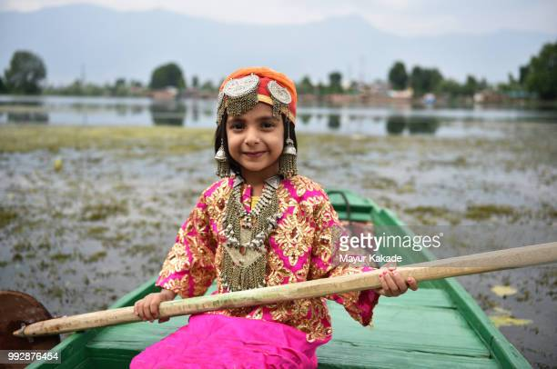 Young girl in Traditional Kashmir outfit