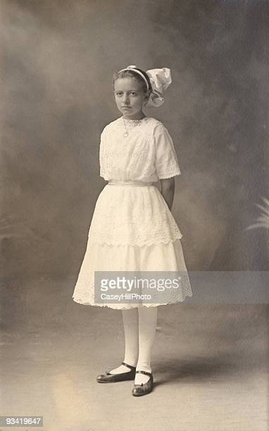 Young girl in white dress, 1908