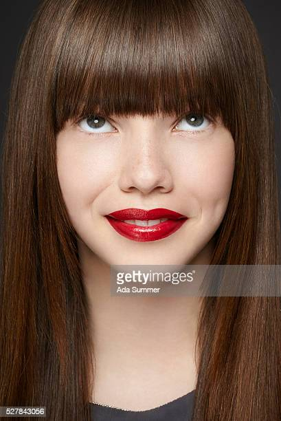 young girl looking up - fringe stock pictures, royalty-free photos & images