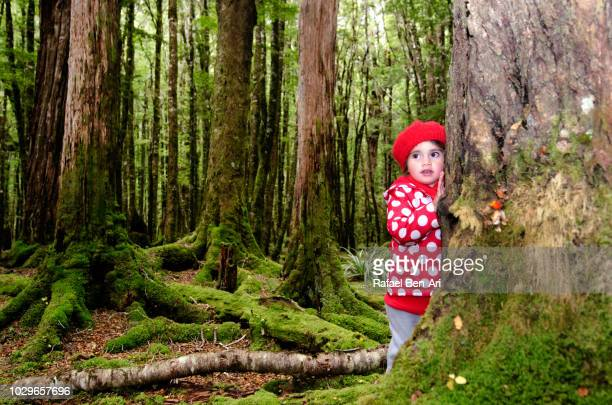 Young Girl Lost in the Woods