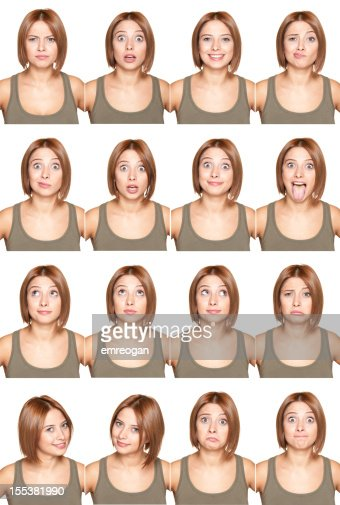 Young Girl Making Facial Expressions Stock Photo Getty