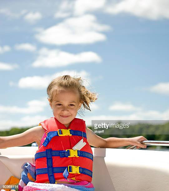 Young girl on a boat