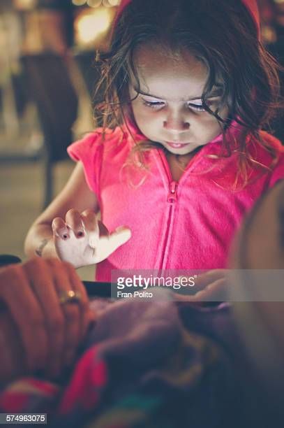 Young girl on a smart phone.