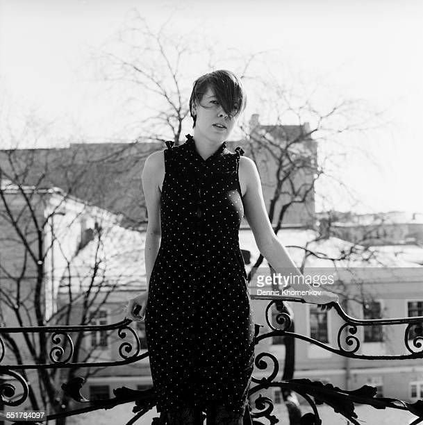 Young girl on balcony