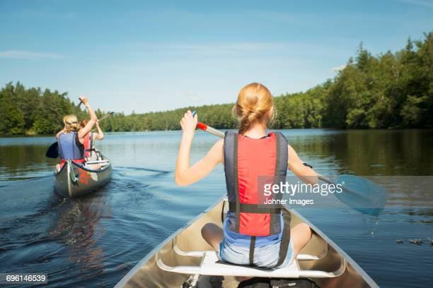 Young girl on kayak