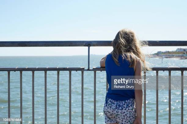 Young girl on the pier