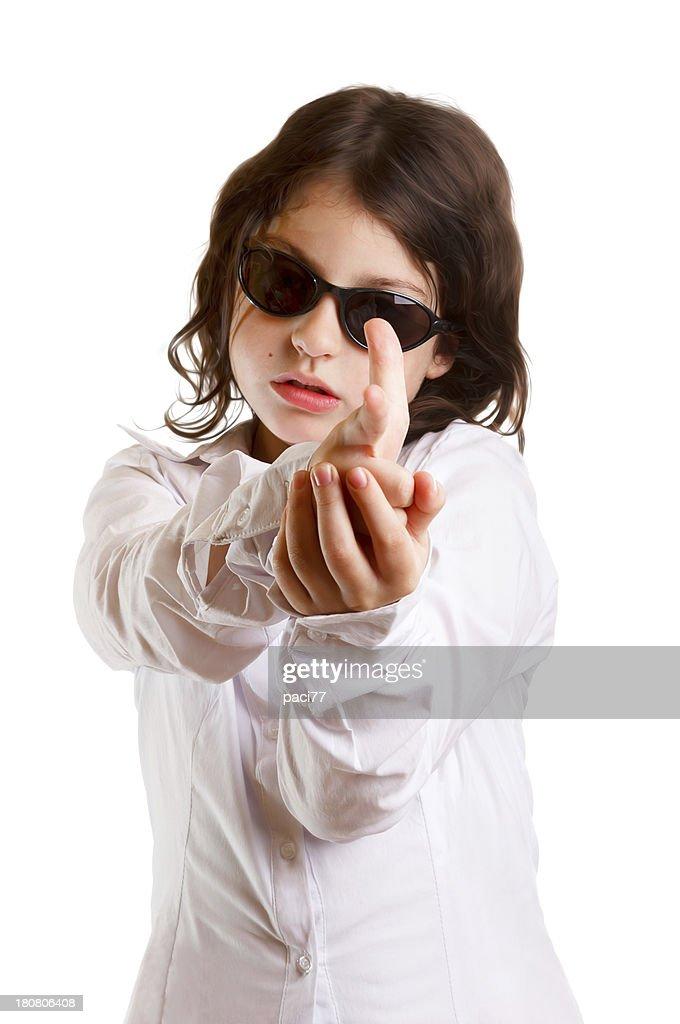 mädchen finger