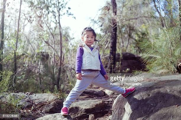 Young girl posing in bush