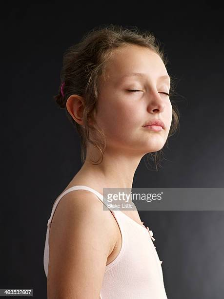 Young Girl Profile eyes closed