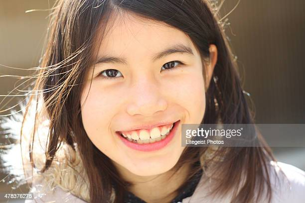 Young Girl Radiant Smile