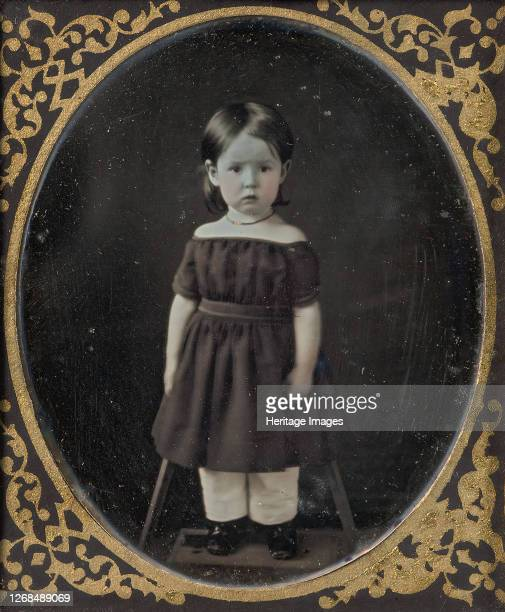 [Young Girl Standing on Short Platform], 1840s-50s. Artist Unknown.