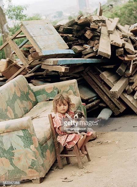 A young girl survivor