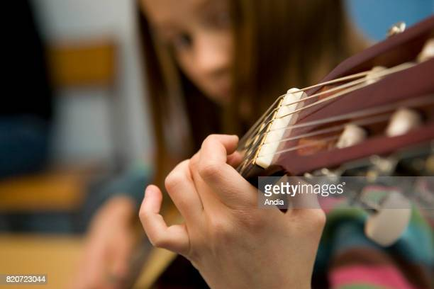 Getty Images Music Imagery Girls With Guitars Stock Photos And