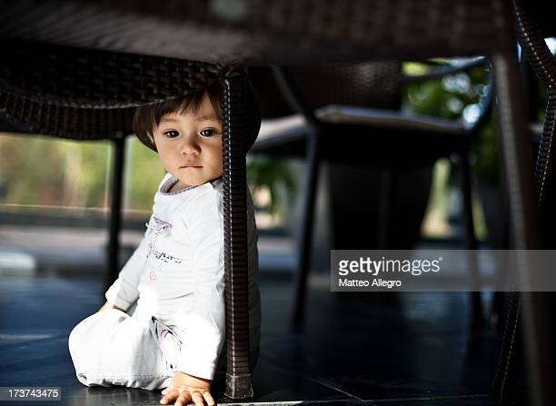 Young Girl under the Table