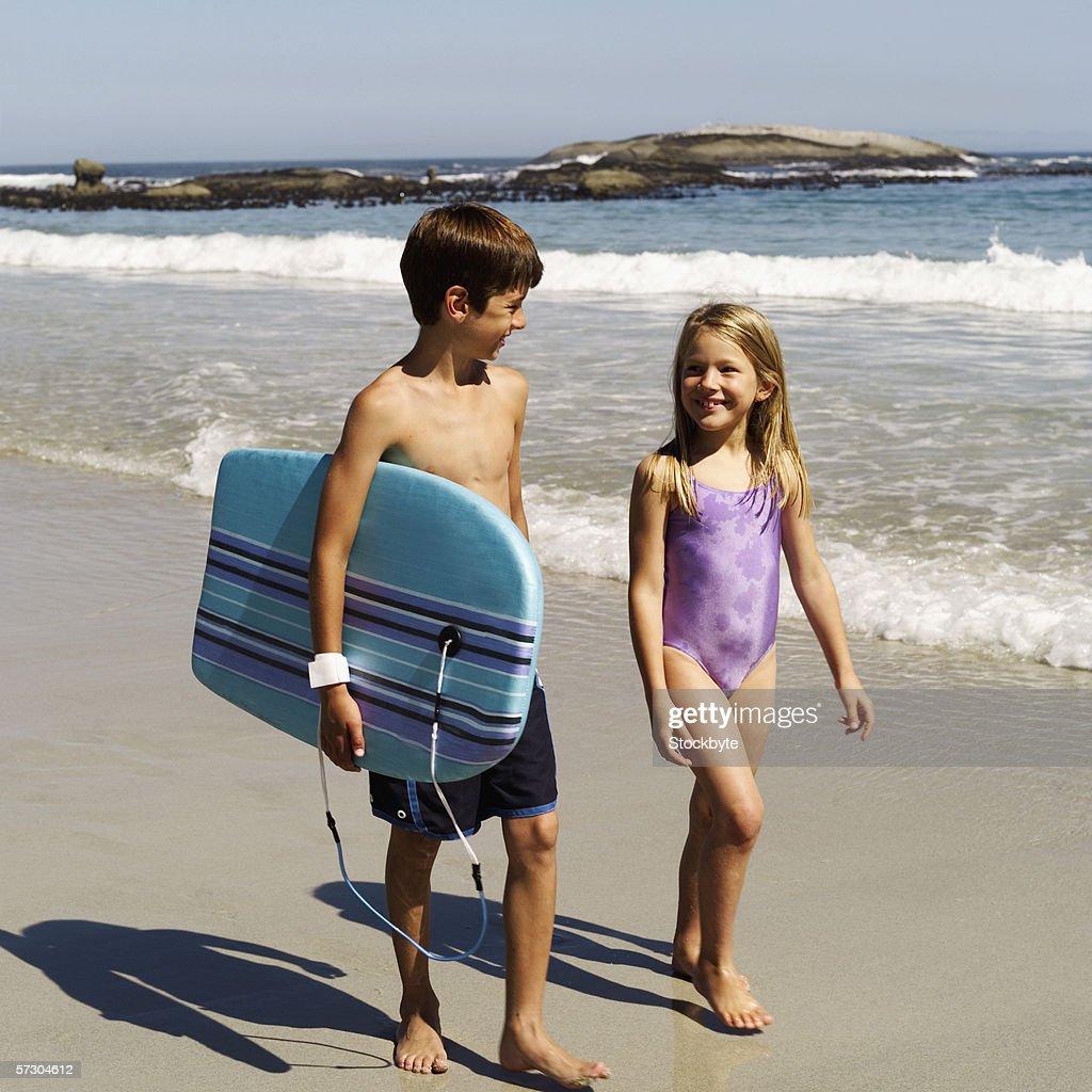 teenage nude beach girl with boyfriend