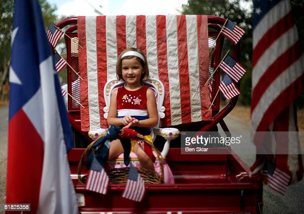 A young girl watches during the Independence Day parade July 4 2008 in Wimberley Texas The United States declared independence from the Great Britain...