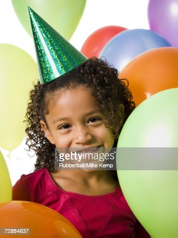 Pretty Teenage Girls Playing With Balloons Stock Images