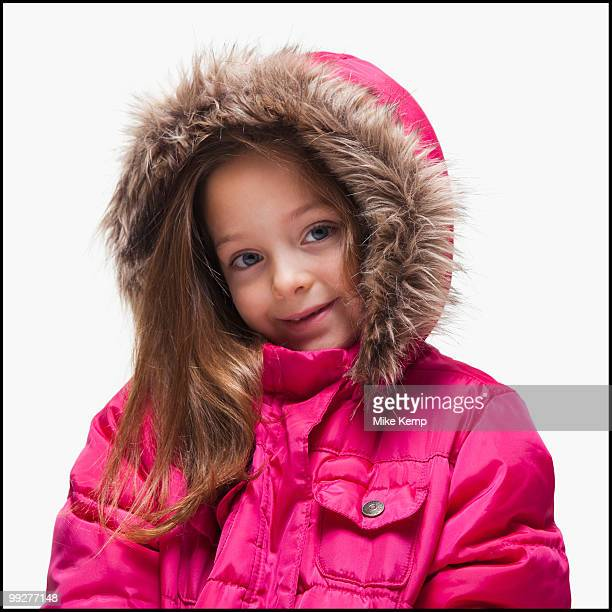 Young girl wearing winter clothing