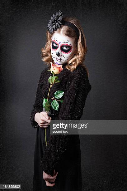 Young Girl Wearking Sugar Skull Make Up