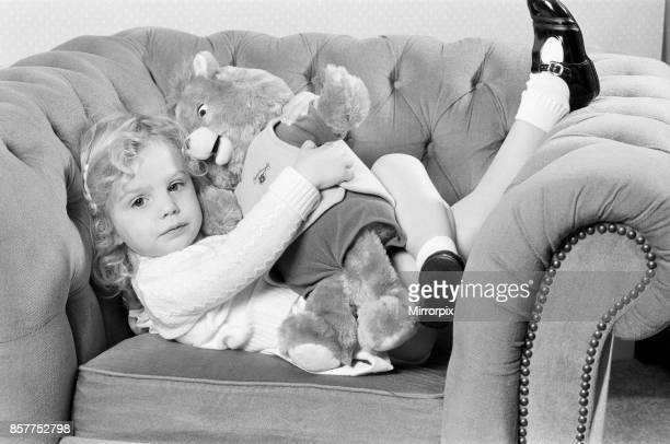 A young girl with a Teddy Ruxpin toy 21st October 1986