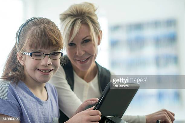 Young Girl with a Visual Impairment