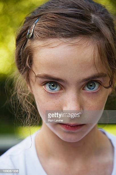 Young girl with blue eyes, portrait