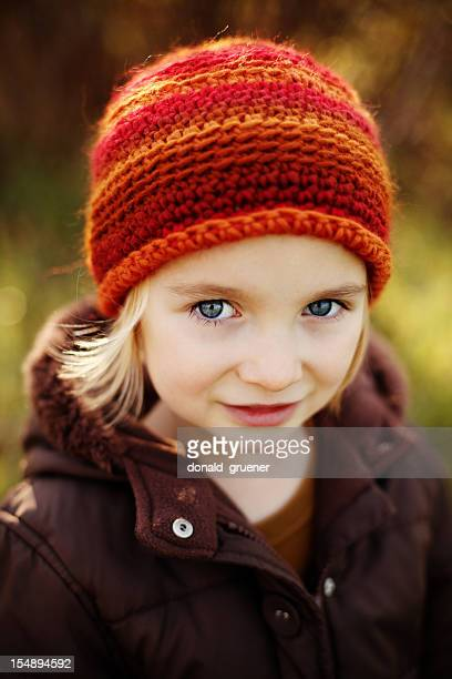Young Girl with Crocheted Hat