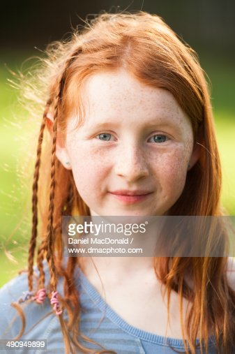young girl with red hair stock photo image of forest young girl with long red hair in braids stock photo