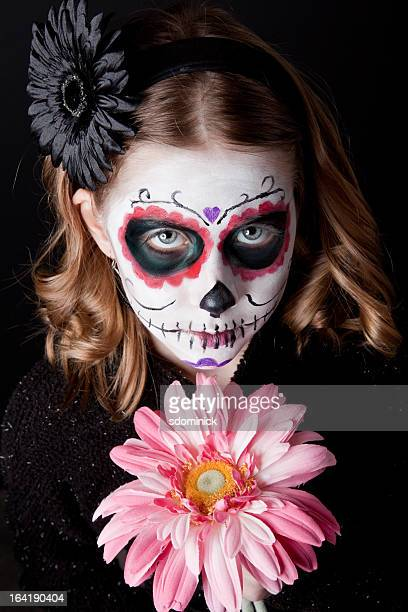 Young Girl With Sugar Skull Make Up