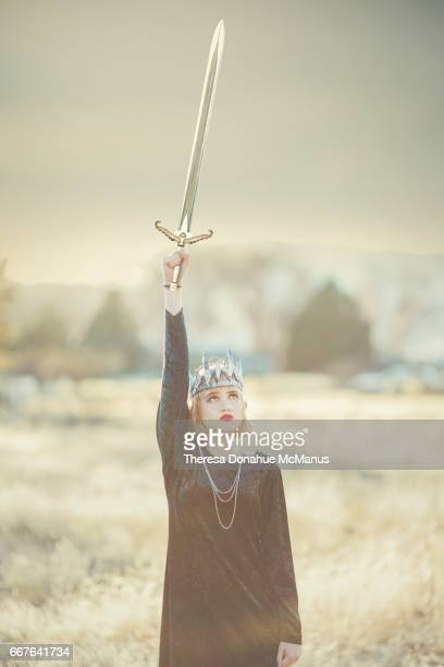 Young Girl With Sword