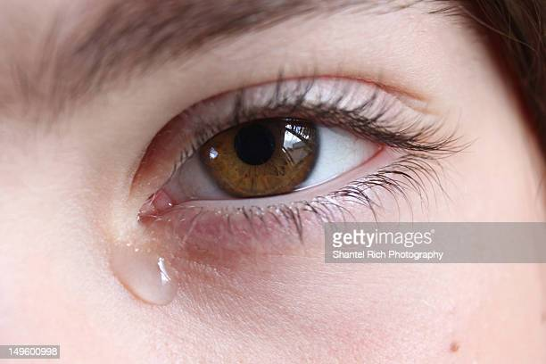 Young girl with tears in eyes