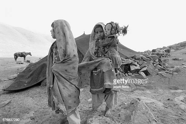 Young girls from the Kuchi nomad ethnic group