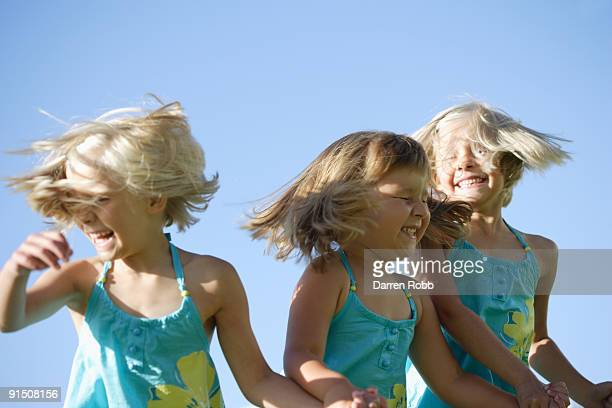 Young girls, laughing