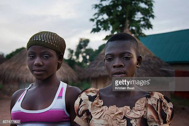 Young girls made up for the night in rural Makurdi Benue state has got one of the highest HIV prevalence in Nigeria and EVA aim to target vulnerable...