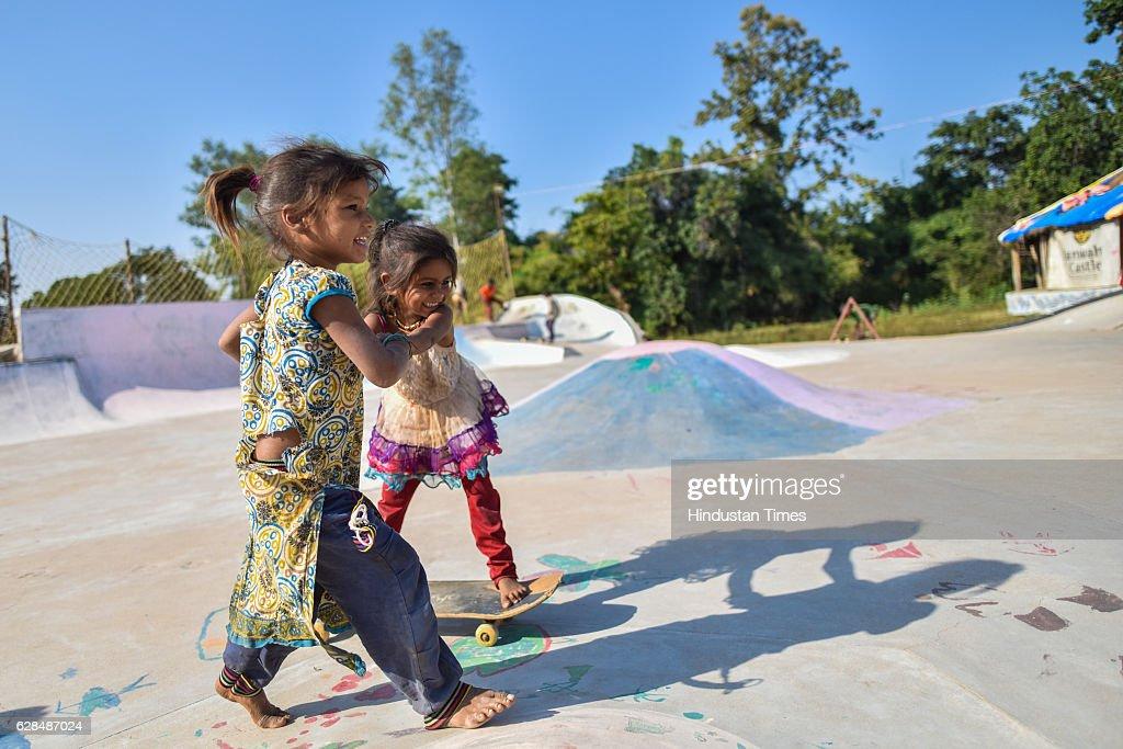 Special Story On Janwaar Castle, Indias First Rural Skate Park : ニュース写真
