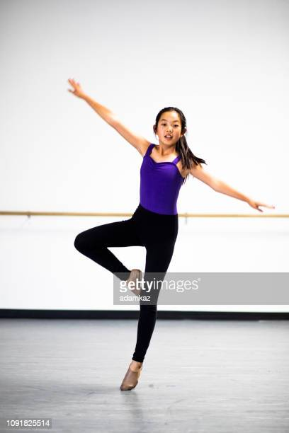 Young Girls Practicing Dance in Studio