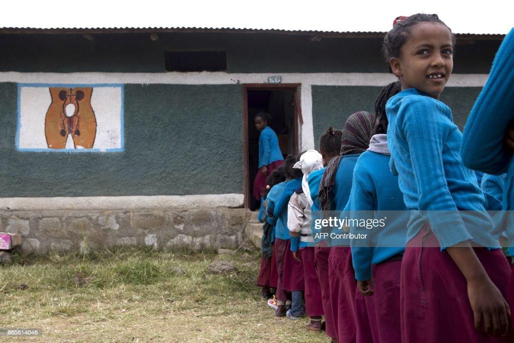 ETHIOPIA-HEALTH-EDUCATION-GIRLS-PAD : News Photo