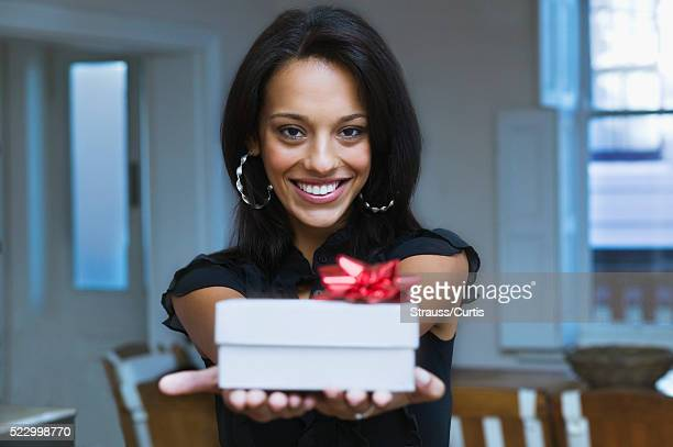 Young Giving a Present