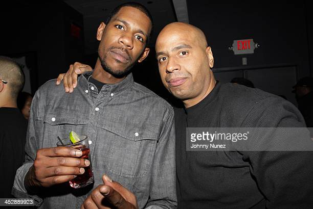 Young Guru and OG Juan Perez attend JayZ's Official Madison Square Garden Concert After Party at the 40 / 40 Club on March 2 2010 in New York City