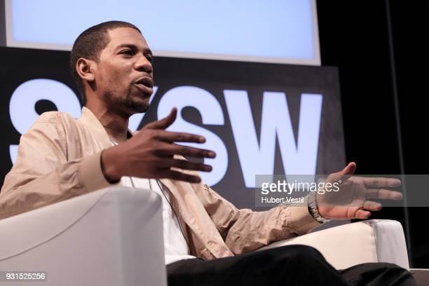 Young Guru speaks onstage at Music Tech A Gateway to Awaken America's Youth with Young Guru during SXSW at Austin Convention Center on March 13 2018...