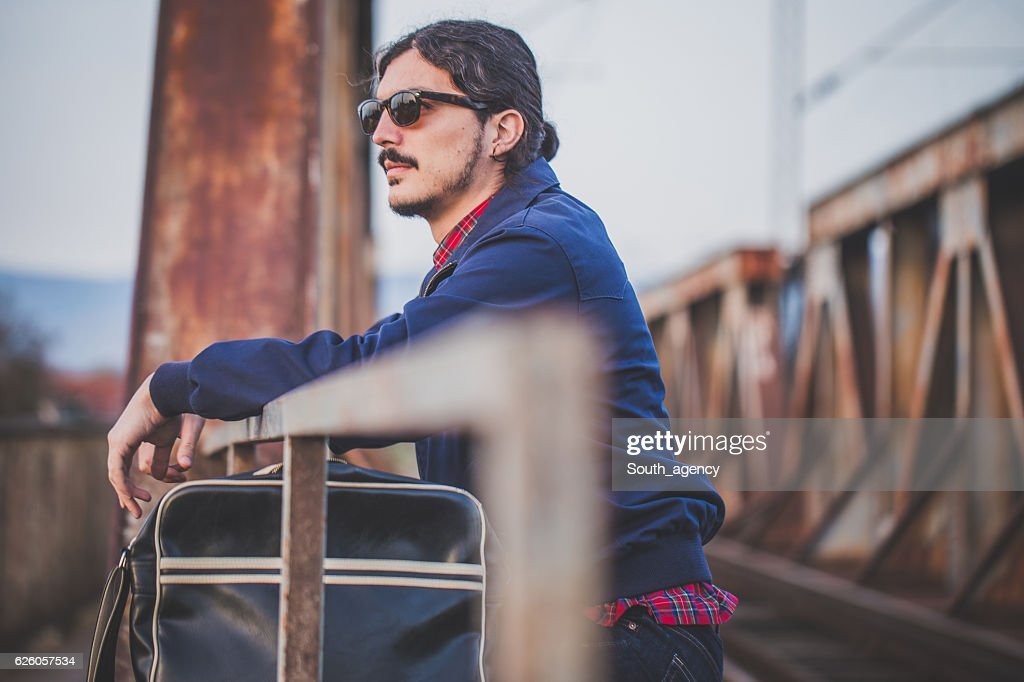 Young Guy With A Mustache Stock Photo | Getty Images