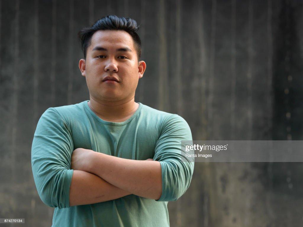 Asian chubby man