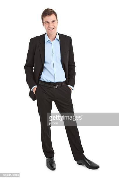 Junge gut aussehend Geschäftsmann
