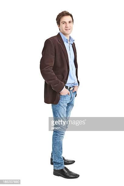 Junger gut aussehend Mann in Jacke